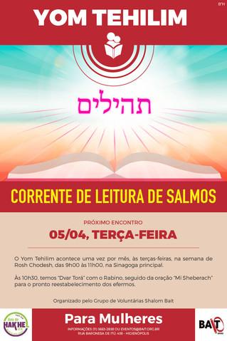 YOM TEHILIM - 05/04, TERÇA FEIRA