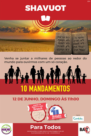 SHAVUOT - 10 MANDAMENTOS