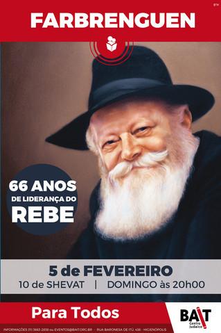 Farbrenguen: 66 anos de liderança do Rebe
