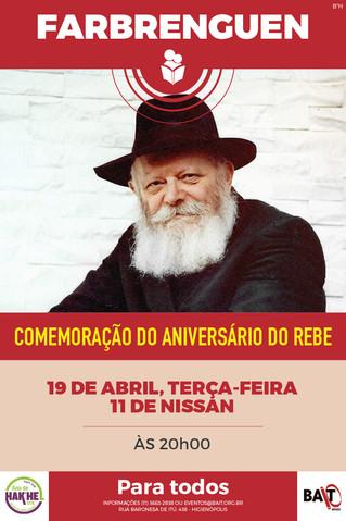 FARBRENGUEM - 19/04, TERÇA-FEIRA