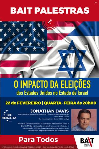Palestra: O impacto das eleições dos Estados Unidos no Estado de Israel
