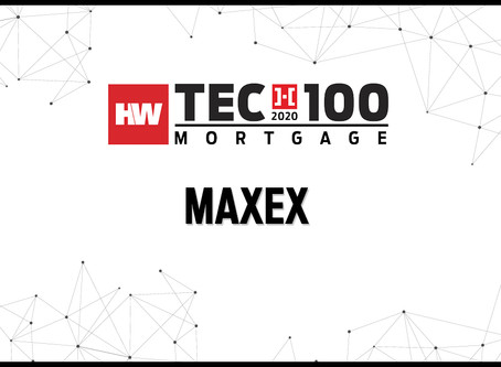 MAXEX named 2020 HousingWire Tech100 winner