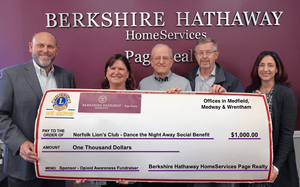 BHHS Presents Check to Norfolk Lions Club