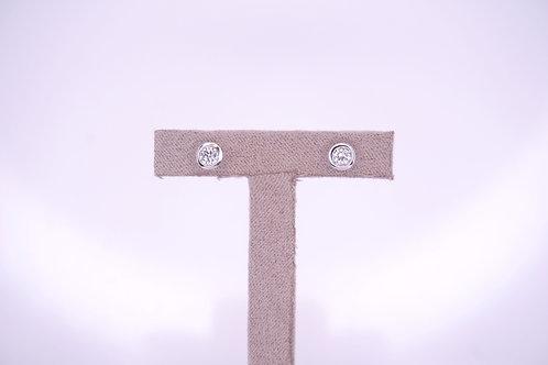 9ct White Gold Certified 0.3ct Diamond Studs