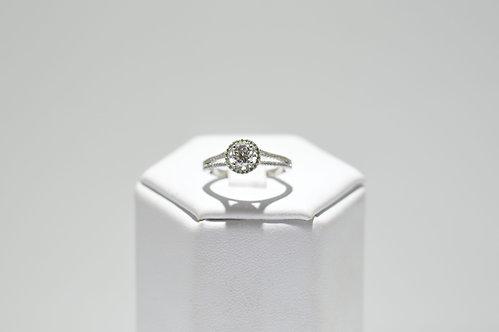 9ct White Gold Halo Diamond Ring