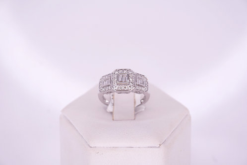 9ct White Gold Certified Diamond Ring