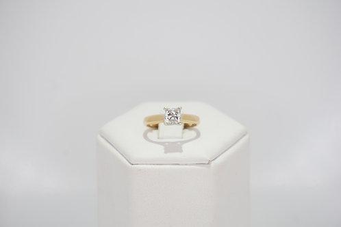 18ct Yellow Gold Princess Cut Diamond Ring