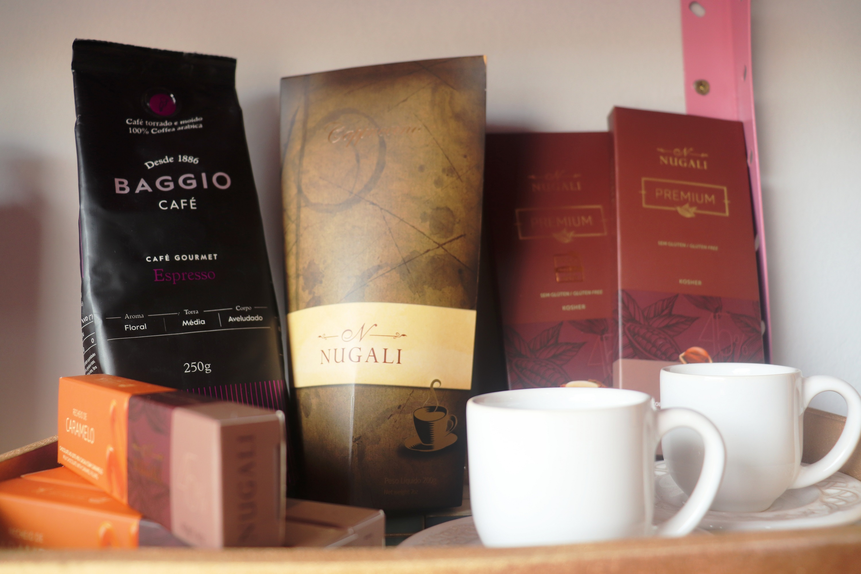 Chocolates e café gourmet