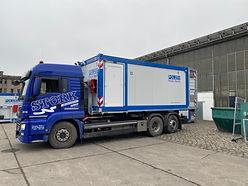 Nach nur kurzer Planungs- und Bauzeit läuft derzeit die Auslieferung der 6 mobilen Polizeiwachen an das Land Sachsen-Anhalt.