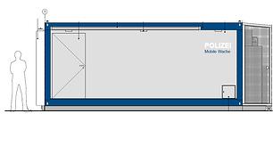 Die tetris Modulbau erhält EU-Auftrag vom Land Sachsen-Anhalt für 6 mobile Polizeiwachen. Die Module sollen völlig autark betrieben werden.