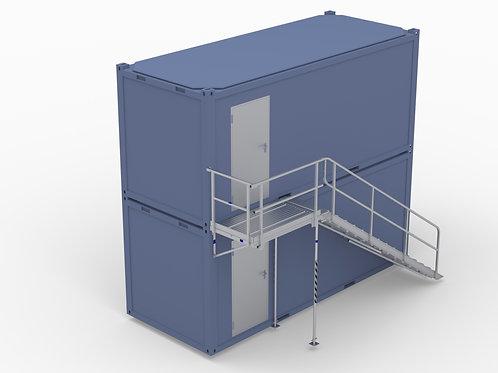 Aufgangsmodul (Aufgang und Laufsteg längsseitig)