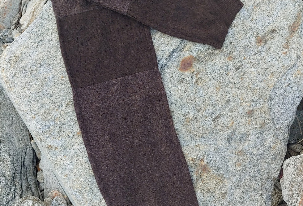 Cashmere Scarf / shades of brown and argyle design