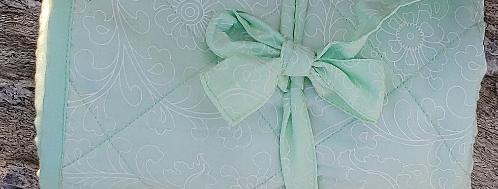 Cotton Baby Quilt - Light Green Design
