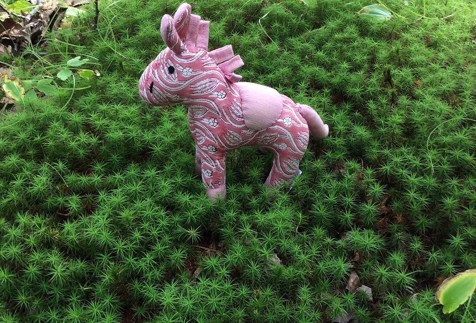 Medium Horse - pink with white design