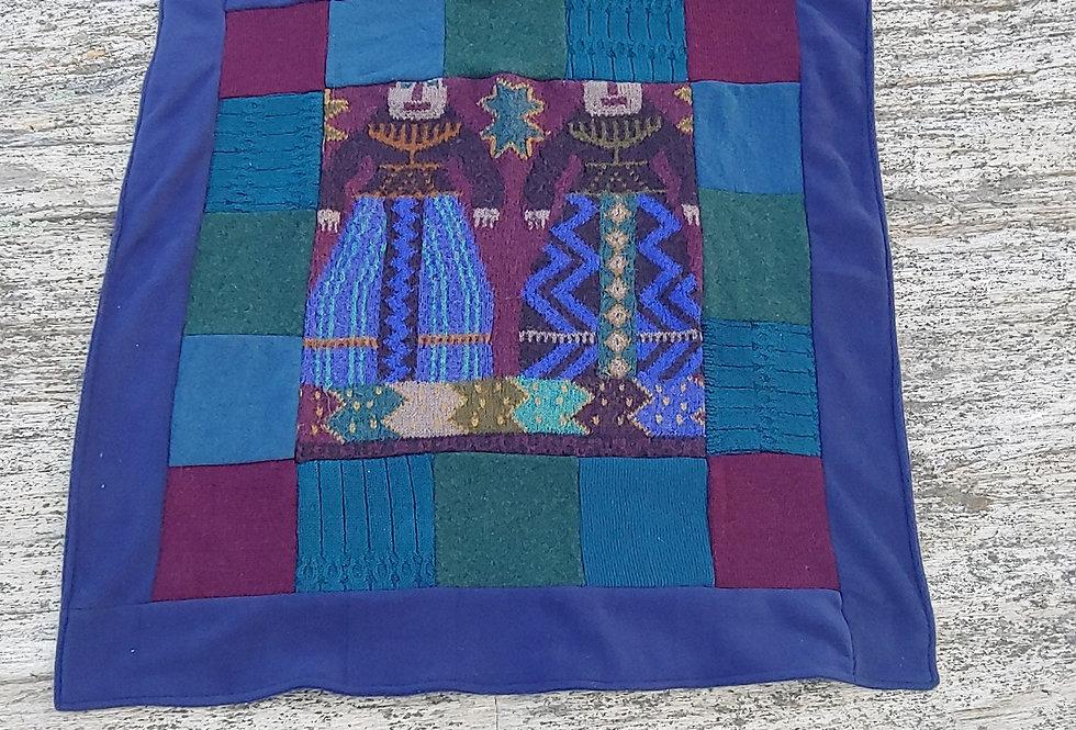 Baby Blanket Southwest Indian Design Alpaca / Wool/ Fleece