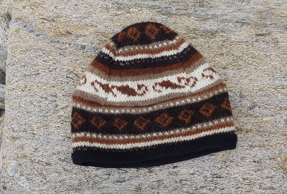 Alpaca Wool Hat with Cashmere Lining