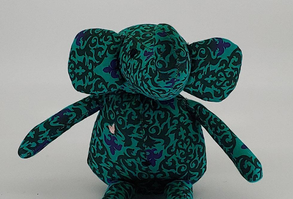 Medium Elephant - Dark Green Pattern
