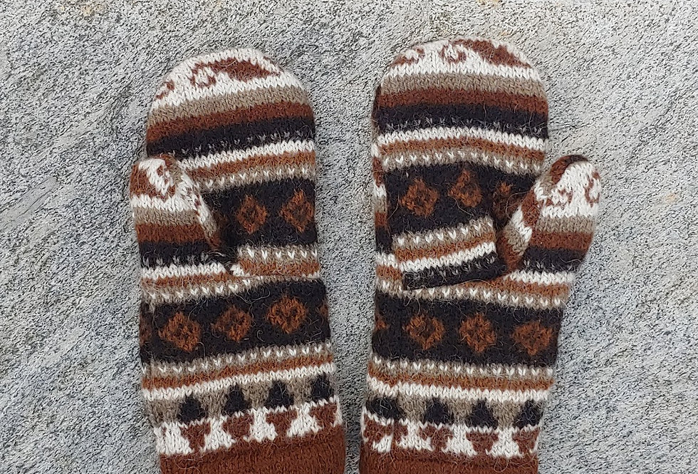 Alpaca Mittens with Cashmere Lining