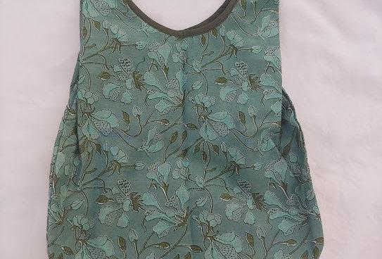 Olive / Sage Floral Cotton Bag