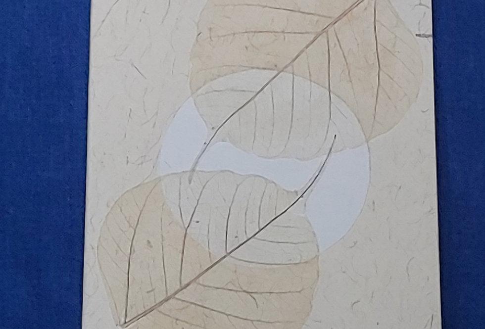 Full Moon Leaf Card
