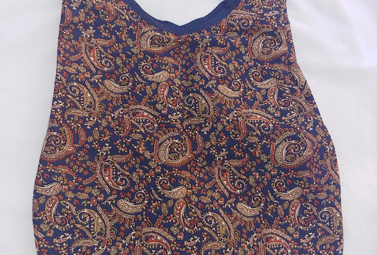 Blue / Rust Paisley Cotton Bag