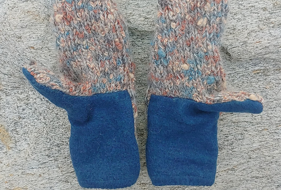 Mohair Blend/ Merino Wool Mitten with Cashmere Lining