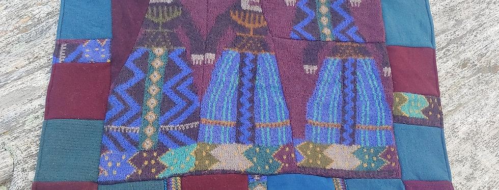 Alpaca and mixed Wool Blanket and Fleece Blanket