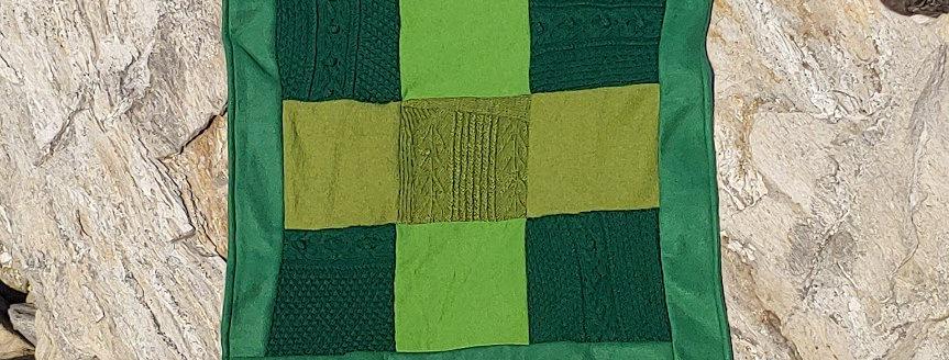 Wool / Fleece Stroller Blanket - Green
