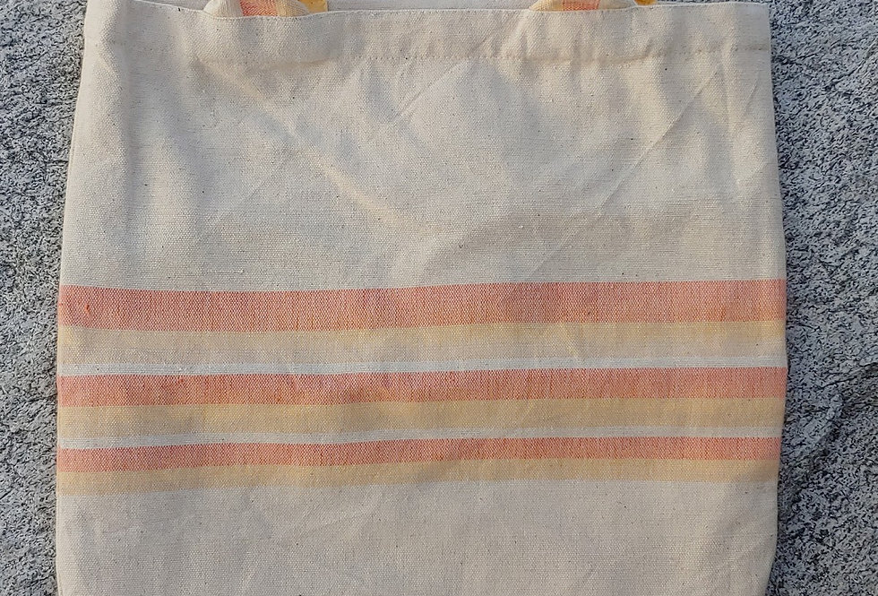 Handwoven Cotton Carry Bag Sunshine Stripe