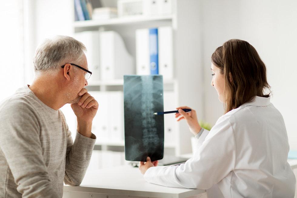 Spine Examination with Chiropractor