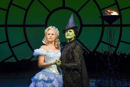 Helen Woolf as Glenda and Amy Ross as Elphaba