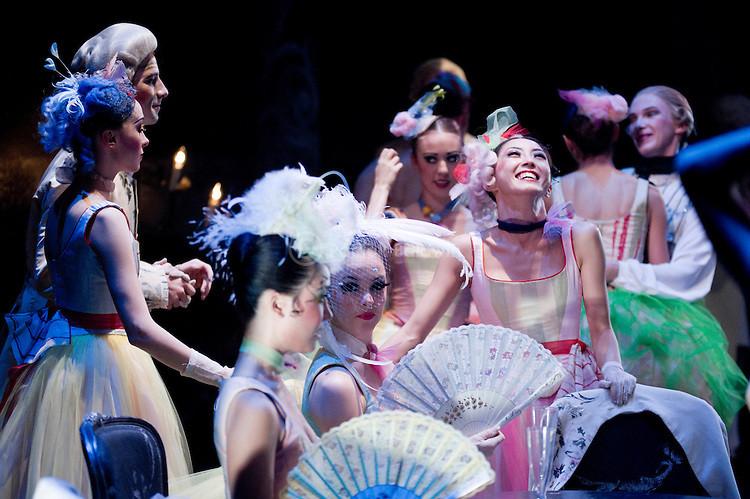 The Corps de Ballet in English National Ballet's exuberant Manon