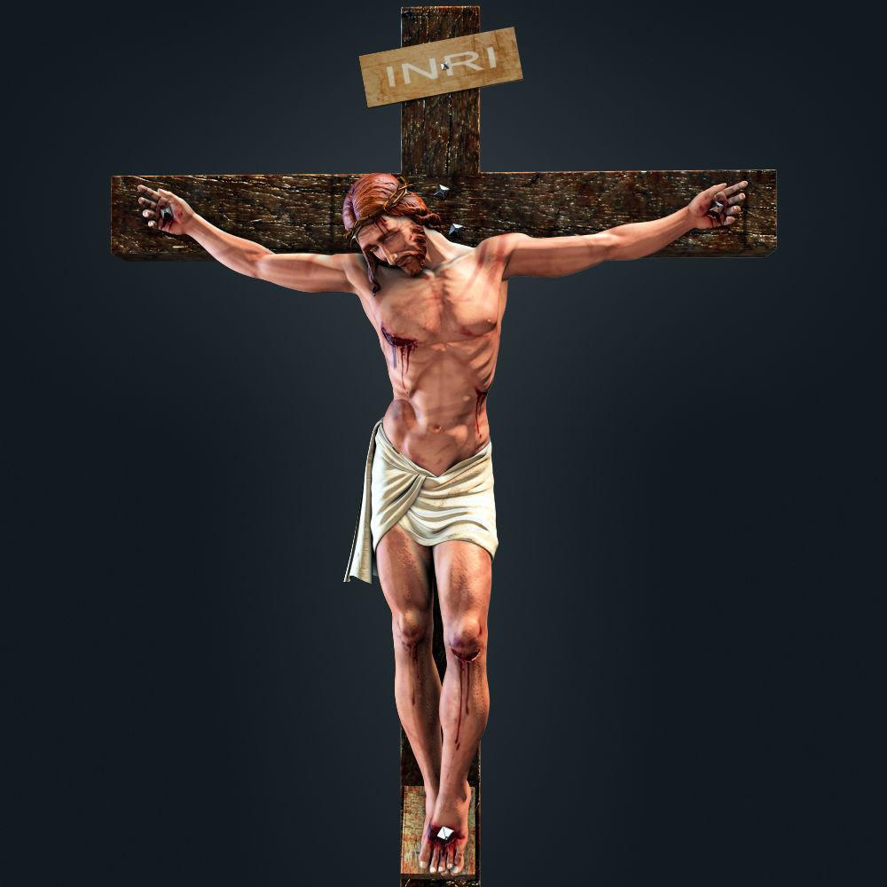 Jesus on cross, graphic