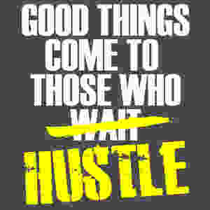 good-things-come-to-those-who-hustle-gray-tee