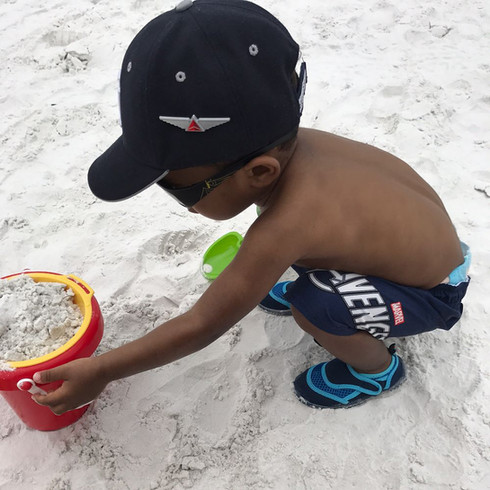 He loves the Beach