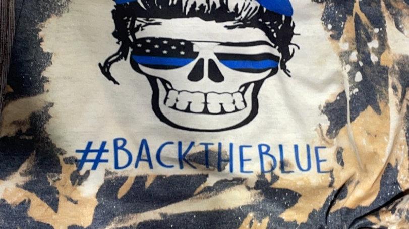 back the blue skull