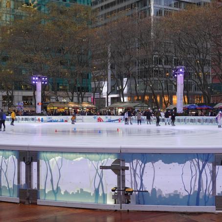 Midtown Manhattan's Bryant Park Transformed into a Winter Village