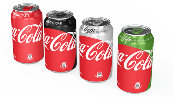 """Line up of the 2016 """"One-Brand"""" cans"""