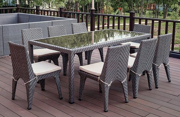 Стол обеденный из искусственного ротанга (арт. 03-101)