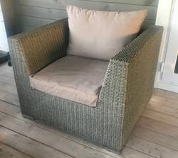 Кресло из искусственного ротанга, цвет м