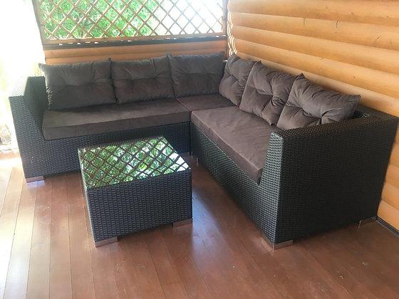 Комплект диван угловой + стол (арт. 02-109)