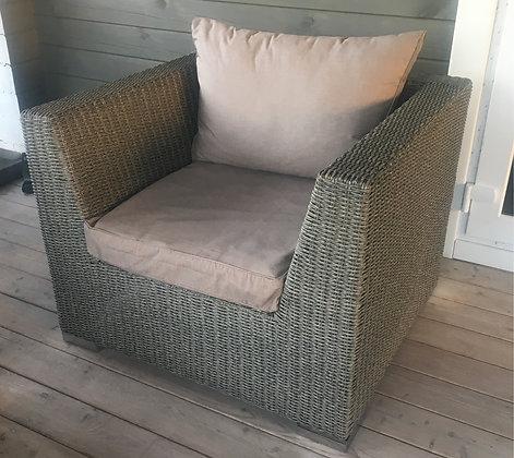 Кресло из искусственного ротанга мокко (арт. 01-103)