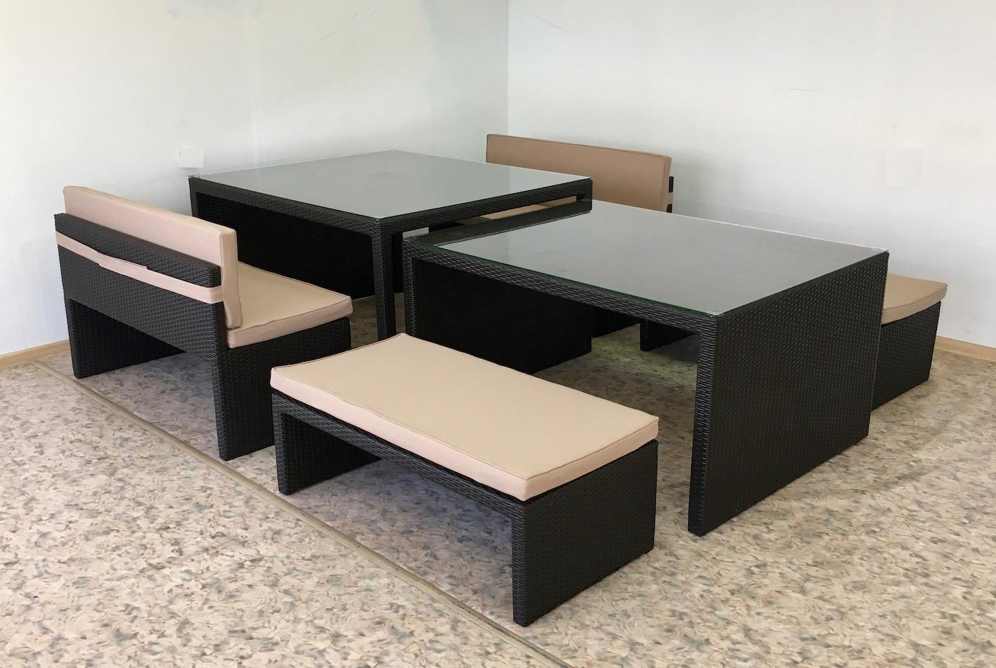 Стол раздвижной из полиротанга