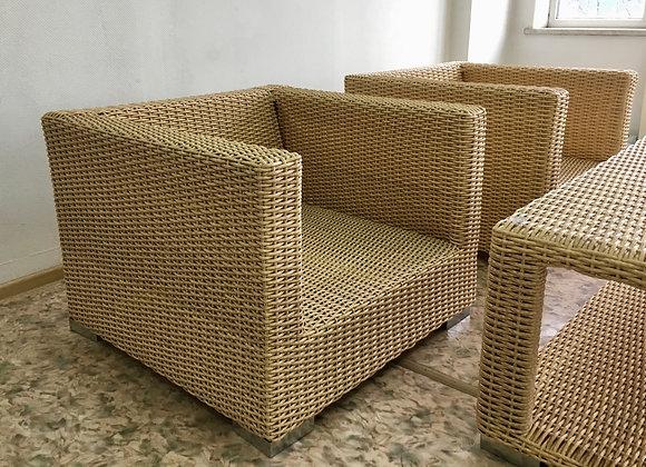 Кресло из искусственного ротанга (арт. 01-112)