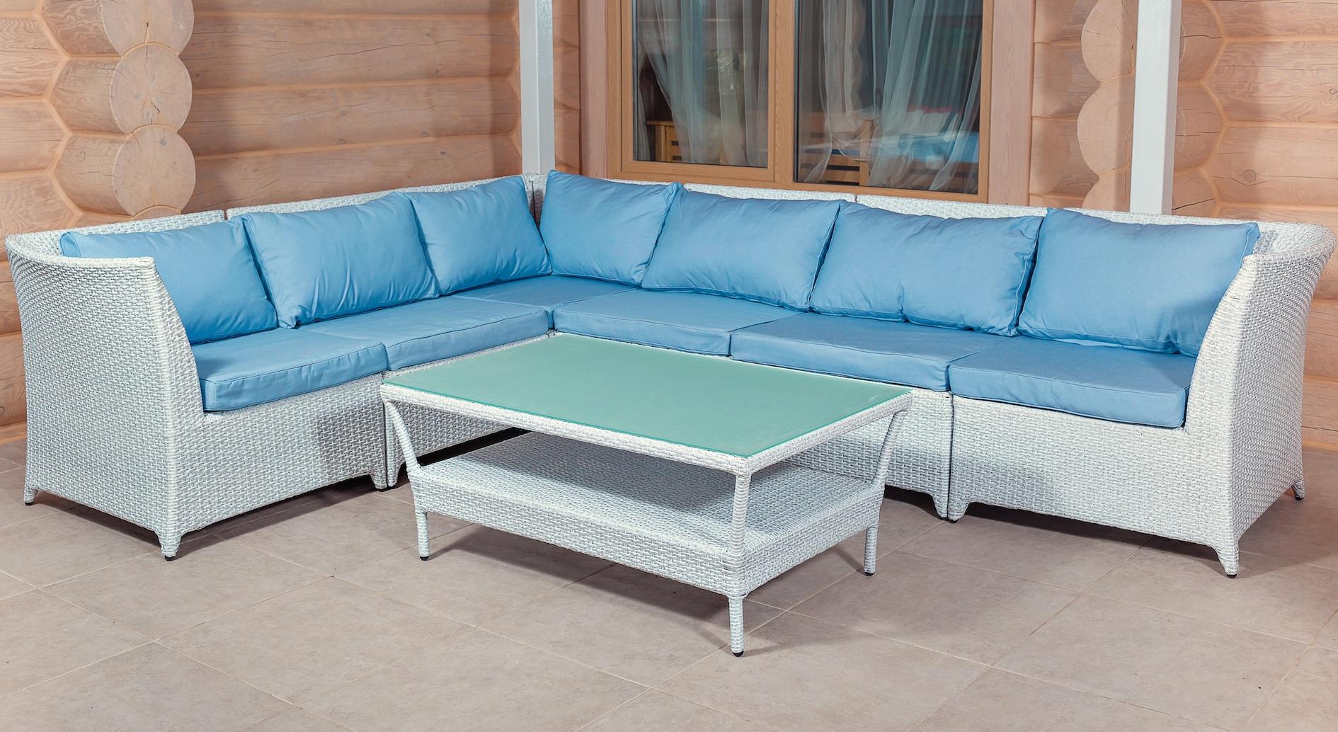 Модульный диван угловой + столик из иску