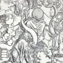 Original, ca. 1498, Christus erscheint dem Hl. Johannes inmitten der sieben Kerzenleuchtern