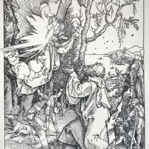 Original ca. 1505, Ein Engel bringt eine Nachricht für Joachim