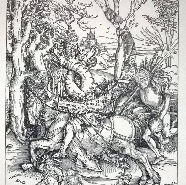 Original ca. 1497, Der Ritter und der Landsknecht