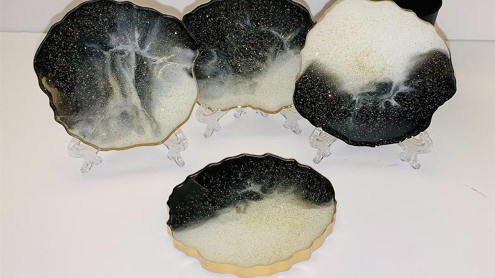 4 Piece Geode Coasters