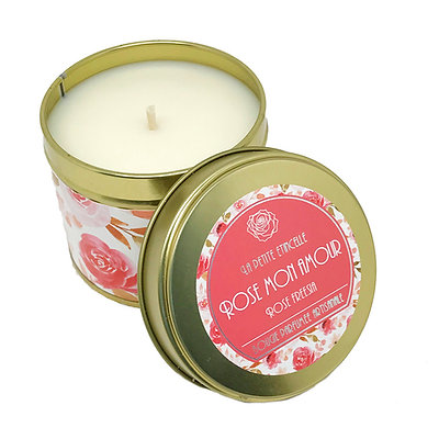 Rose mon Amour bougie 200gr